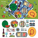 Summer picnic in the park Royalty Free Stock Photography
