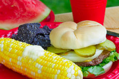 Summer picnic plate Stock Photo