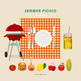 Summer picnic poster Royalty Free Stock Image