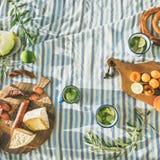 Summer picnic set stock image
