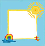 Summer picture frame. With sun Royalty Free Stock Image