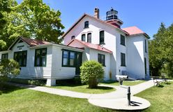 Northwest View of Grand Traverse Lighthouse Stock Photos