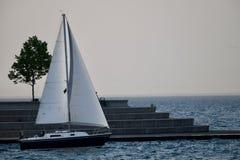 A Twilight Sail Royalty Free Stock Photo