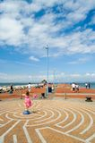 Summer on the pier at morecombe. On the new pier at morecombe Royalty Free Stock Photo