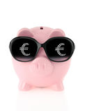 Summer piggy bank Royalty Free Stock Image