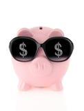 Summer piggy bank stock photography