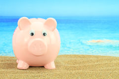 Summer piggy bank Stock Photo