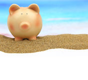Summer piggy bank Royalty Free Stock Photography