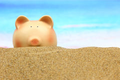 Summer piggy bank Royalty Free Stock Images