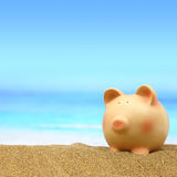 Summer piggy bank Royalty Free Stock Photo