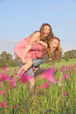 Summer piggyback Stock Photography