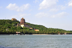 The Summer Place in Beijing. The Summer Palace which used to be a royal garden is the most beautiful one of park of Beijing today stock images