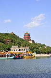 The Summer Place in Beijing. The Summer Palace which used to be a royal garden is the most beautiful one of park of Beijing today royalty free stock photo
