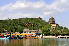 The Summer Place in Beijing. The Summer Palace which used to be a royal garden is the most beautiful one of park of Beijing today royalty free stock photography
