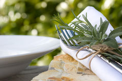 Summer place setting Royalty Free Stock Images
