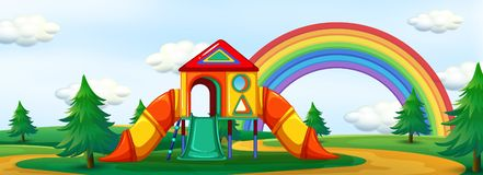 A summer playground background Stock Illustration