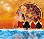 Summer poker time Stock Image