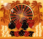 Summer poker time wallpaper Stock Photo