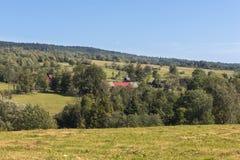Summer Polish landscape in Sudety mountains Stock Photo