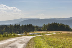 Summer Polish landscape in Sudety mountains Stock Photography