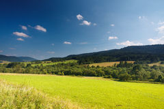 Summer in polish mountain. With blue sky Stock Image