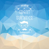 Summer polygonal vintage abstract background Royalty Free Stock Images