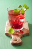 Summer pomegranate drink with melissa.  royalty free stock photos