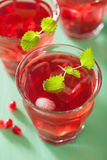 Summer pomegranate drink with melissa.  stock images