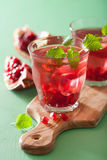 Summer pomegranate drink with melissa Stock Photography