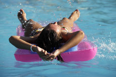 Summer in the pool Royalty Free Stock Photography