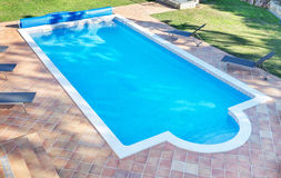 Summer pool for the holidays with a garden. Stock Photo
