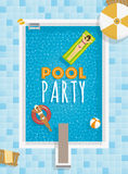 Summer Pool Party Template Stock Images