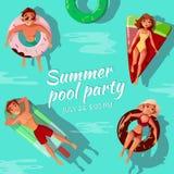 Summer pool party vector illustration vector illustration