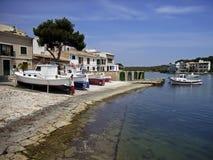 Summer in Porto Petro. Porto Petro dock (Majorca - Spain Royalty Free Stock Photography