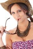 Summer portrait of attractive female Stock Photos