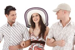 Summer portrait of attractive people Royalty Free Stock Image