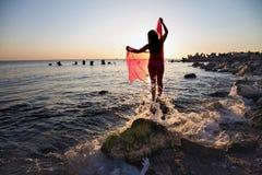 Summer portrait on the beach Stock Photo
