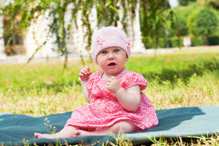 Summer portrait of beautiful baby Royalty Free Stock Images