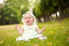 Summer portrait of beautiful baby Stock Photo