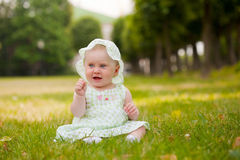 Summer portrait of beautiful baby Stock Photos