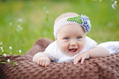 Summer portrait of beautiful baby girl Royalty Free Stock Photo