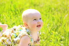 Summer portrait of beautiful baby girl Royalty Free Stock Images