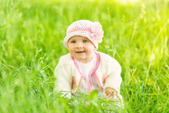 Summer portrait of beautiful baby girl Royalty Free Stock Photography