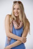 Summer portrait of beautiful nordic woman stock photos