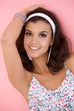 Summer portrait of beautiful smiling girl Royalty Free Stock Photo