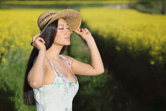 Summer portrait of a beautiful woman Royalty Free Stock Image