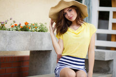 Summer portrait of a beautiful woman outdoors Royalty Free Stock Photography