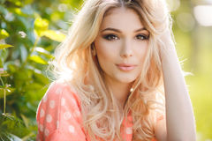 Summer portrait of a beautiful woman. Royalty Free Stock Photos
