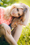 Summer portrait of a beautiful woman. Royalty Free Stock Image