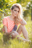 Summer portrait of a beautiful woman. Royalty Free Stock Photography